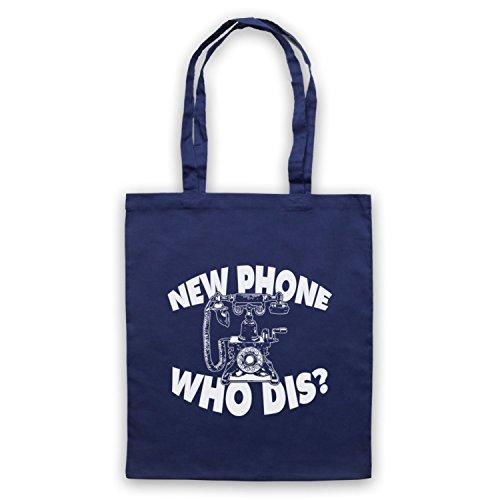 New Phone Who Dis? Funny Slogan Vintage Phone Umhangetaschen Ultramarinblau