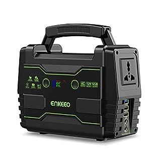 ENKEEO Power Station 155Wh Tragbare Lithiumbatterie und AC/DC-QC3.0-USB-Anschlüssen, Solarstromgenerator für den Notfall auf Campingreisen, 100 W-Geräte werden unterstützt