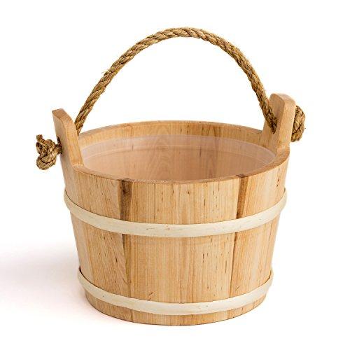 Saunakübel mit Kordelgriff