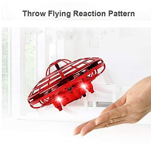creatspaceDE UFO Hand Fliegen UFO-Induktions-Suspension RC Flugzeuge Drone Spielzeug Geschenk Sensing und Lichter Farbe: Gold -
