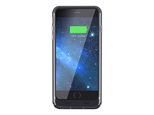 Mota 2400mAh extended battery case-batterie externe powerbank batterie de chargement spectre de protection ultra-fine batterie rechargeable intégrée pour iPhone 6 Noir
