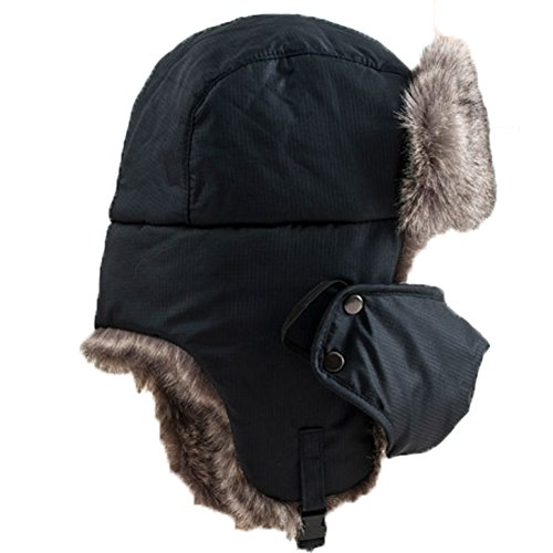 Crazyhats Mens Hat Russian Style Winter Ear Flap Hat