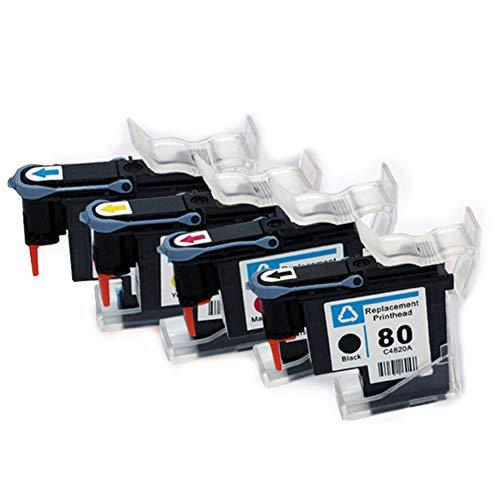 YBCD kompatibel zu HP No. 80 Druckkopf, geeignet für HP Designjet 1000 1050 1055 Color Inkjetdrucker, Farbdruckkopf Plotter Großformat C4820A