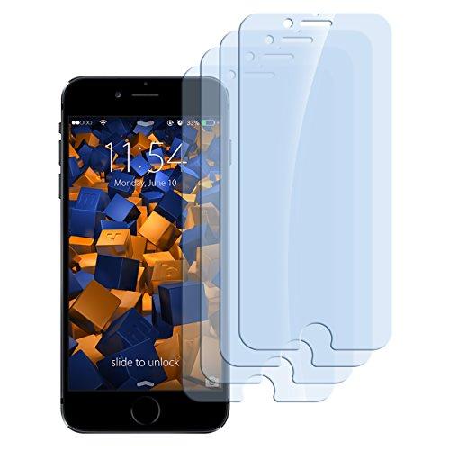 4 x mumbi Panzerfolie für iPhone 6 / iPhone 6s Glasfolie Hartglas 9H (bewusst kleiner als das Display, da dieses gewölbt ist)