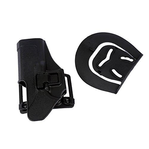 Quick Draw Schwarz Rechts Taille Paddle Gürtelholster für Glock 17 18 19 23 26