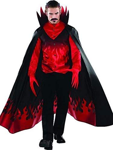(Fancy Me Herren Blutrot Teufel Diablo Flammen Gruselig Halloween Karnevalskostüm Kostüm Outfit S-XL - Small-Medium)