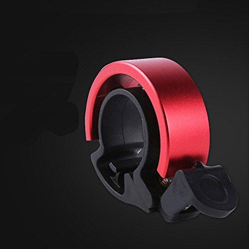 Myhonour Fahrradklingel Laut,Q Design Fahrradglocke für Lenker von 22,2 bis 31,8 mm, Radfahren Fahrrad für Alle Fahrrad (Rot)
