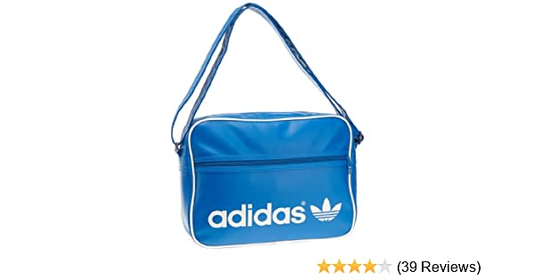 adidas Adicolor Airliner Shoulder Bag - Bluebird Running White, 28 x 12 x 38  cm  Amazon.co.uk  Sports   Outdoors d3d2273c65