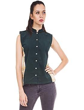 9teenagain señoras verde sin mangas algodón ocasional de la túnica Kurti - Tamaño disponible