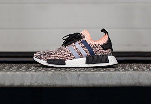 adidas Nmd_r1 Primeknit, Sneaker Bas du Cou Femme Multicolore (Core Black/clear Onix/sun Glow S16)