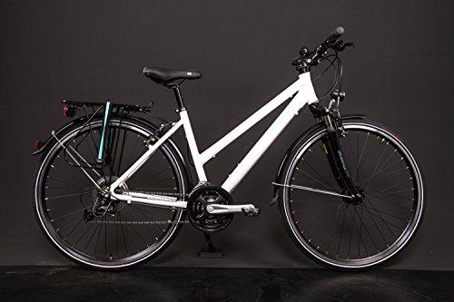 "28\"" Zoll Alu Fahrrad Trekking Damen Rad Shimano Deore 24 Gang Nabendynamo weiss"