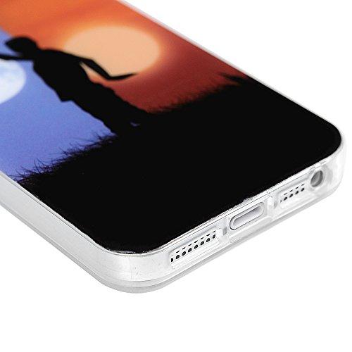 iPhone 5 Hülle,iPhone SE Case YOKIRIN 2X TPU Silikon Handytasche Schutzhülle Handyhülle IMD Craft Durchsichtig Silikonhülle Backcase Handycover Tasche mit Kapazitive Feder und Staubstecker Muster:Groß Color-7