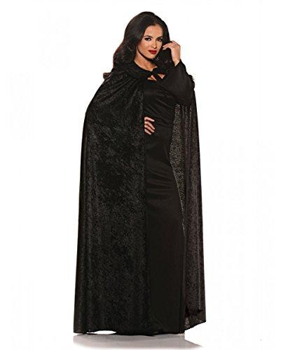 Samt Umhang in schwarz als Cape für Halloween & Karnevals - Horror Shop Halloween