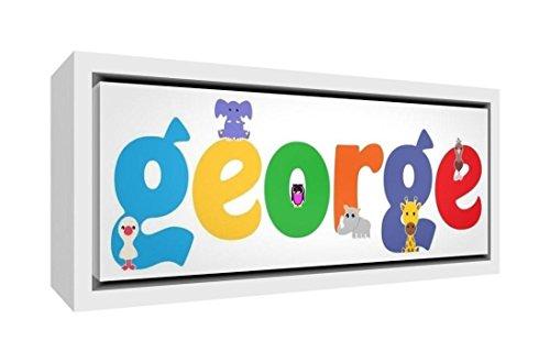 Little Helper Napperon avec Coaster Style Illustratif Coloré avec le Nom de Jeune Garçon Maxence