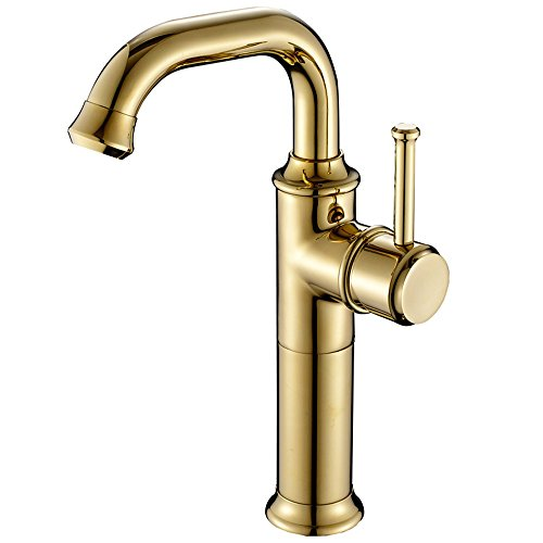 Robinet pivotant/ci-dessus Robinet lavabo/robinet chaud et froid/robinet poignée unique/augmentation du robinet/or de zirconium/New style vente à chaud