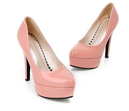 ufficio casual scarpe con tacchi alti corte era scarpe significativamente sottile pink