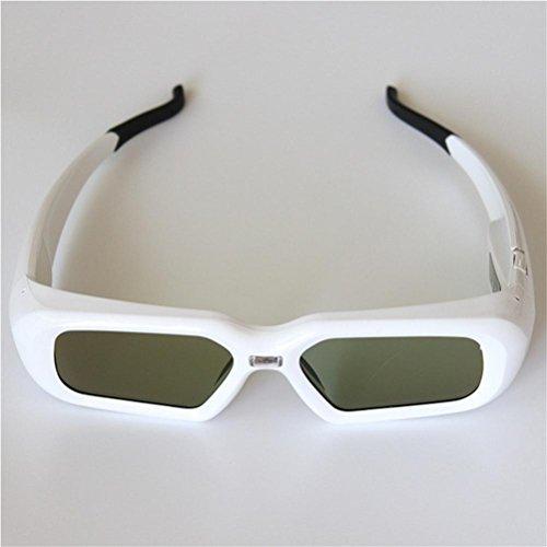 HUYAN1 3D DLP Link Brille Ultra-Clear HD 144 Hz 3D Active Shutter wiederaufladbar Brille Für alle...