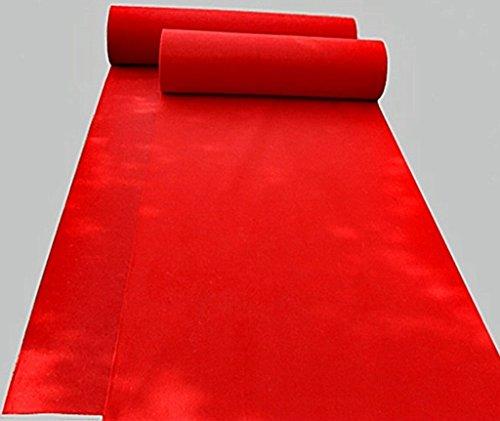 Party Treppen Shop Lieferungen rot Einweg-Rutschfeste Teppich Läufer (größe : 1m*10m) ()