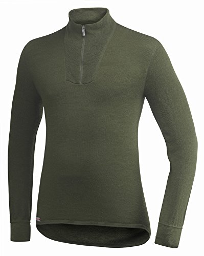 Woolpower Unisex Zip Turtleneck 400 Oliv