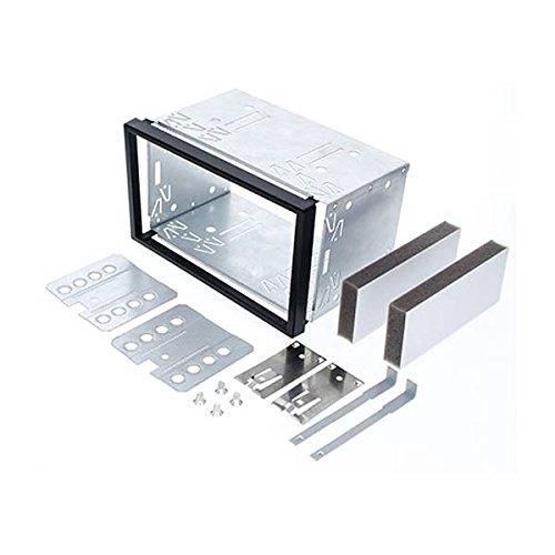 Audioproject A146 - Universal Doppel ISO DIN Einbauschacht Einbau-Rahmen Radioblende - Metal