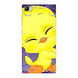 Cute Yellow Tweet Back Case Cover for Xiaomi Mi3