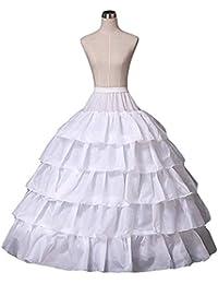 Mallalah Crinolina Enaguas Mujer Largas para Vestidos de Novia Boda Faldas Falda Enagua de Crinolina para Mujer Falda de Bata de Baño…