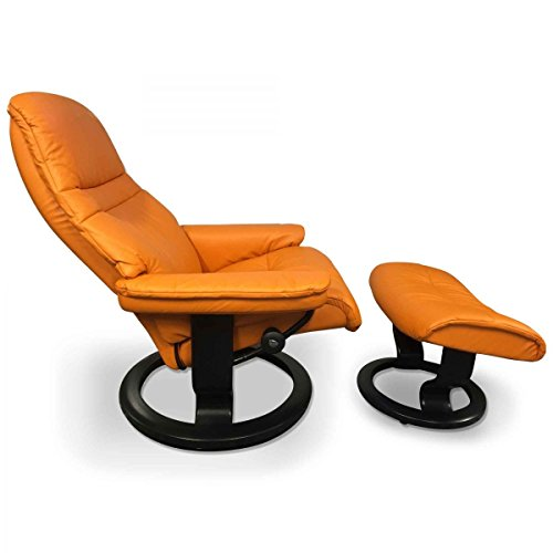 Stressless Sessel Sunrise M (mit Hocker) in Clementine-Orange Ausstellungsstück