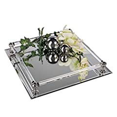 Idea Regalo - Vassoio a specchio, 30 cm, Argento