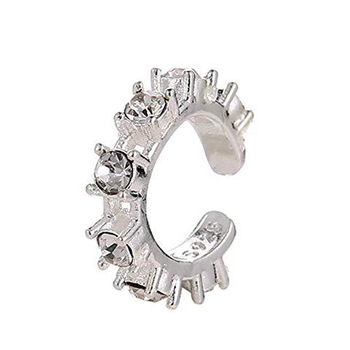 TODAYTOP Ohrclips Ear Cuff Earrings für Frauen Mädchen einstellbar ohrklemmen Knorpelclip Wrap Ohrringen Keine Piercing Knorpel Ohr Manschette... (Silber, 1 Stück)