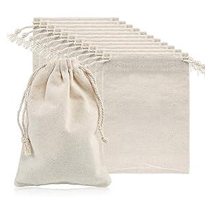 Naler 12 x Jutesäckchen Beige Jute Beutel für Adventskalender Stoffbeutel Natur Säckchen Geschenksäckchen – 10 x 15 cm