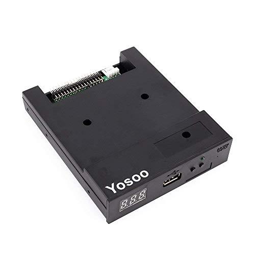 USB-Diskettenemulator SFR1M44-U100K Updateversion Schwarzes Diskettenlaufwerk 5V DC-Netzteil