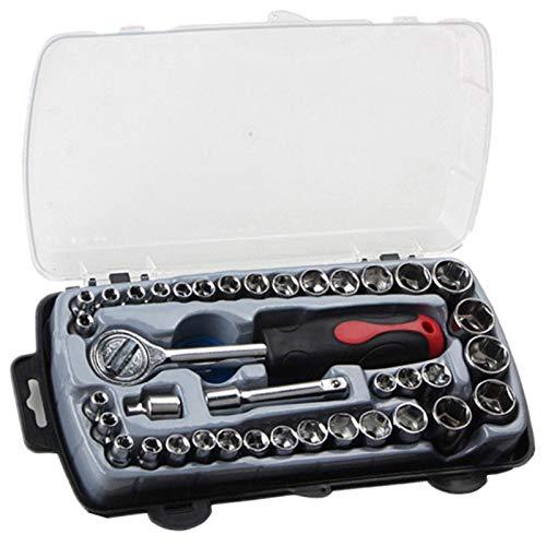 T Form Auto Reparatur Werkzeug Steckdose Set Korrosionsschutz Ratschen Schlüssel Kombination Werkzeuge Für Auto Reparatur Mit Trage Tasche Kit ()