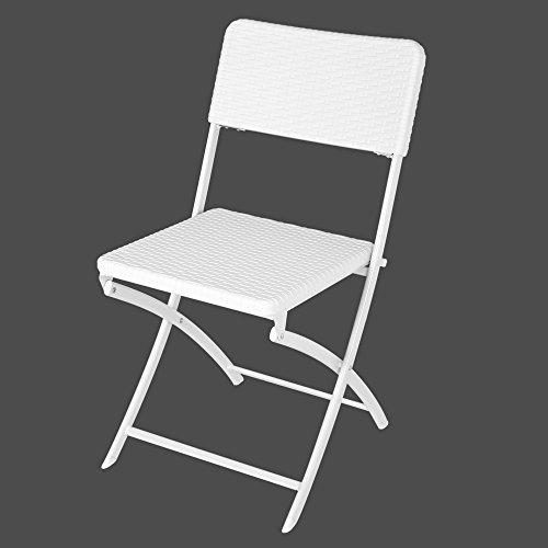 Ldk Garden 82143 - Silla plegable para jardín, 46 x 43 x 81 cm, color blanco