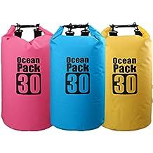 Asvert Bolsa Estanca Impermeable Grande Bolso Seco para Deportes Acuáticos de Aire Libre Bote Canoa Kayak Natación Surf Vela y Remo