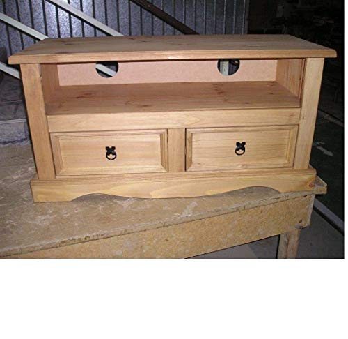 Mercers Furniture Corona 2-Drawer Flat Screen TV Unit - Pine