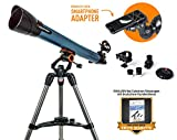 Celestron Inspire 70AZ Teleskop Refraktor 70/700 inkl. Smartphone Halterung – seitenrichtiges und aufrechtes Bild für Natur- und Himmelsbeobachtungen
