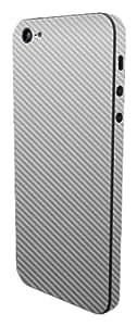Slick Wraps Slickwraps Carbon Series Protective Film For Iphone 5 - Silver Carbon Fiber