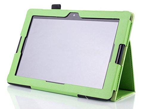 WiTa-Store Schutzhülle für Lenovo IdeaTab A10-70 10.1 Zoll Smart Slim Case Book Cover Stand Flip A7600-H F L (Grün) Neu