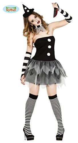 Horror Clown Kostüm für Damen Halloween Damenkostüm Sexy Halloweenkostüm Gr. M-L, Größe:L