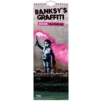 Banksy'S Graffiti 2020 Slim Calendar