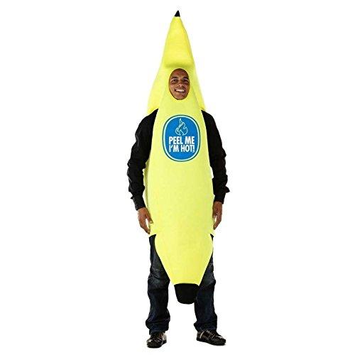 Folat 21950 Bananenkostüm Bananen Anzug, gelb, One Size