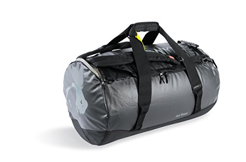 Tatonka Barrel L Reisetasche - 85 Liter - wasserfeste Tasche aus LKW-Plane mit Rucksackfunktion und großer Reißverschluss-Öffnung - Rucksacktasche - unisex - schwarz