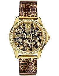 Guess Damen-Armbanduhr Analog Quarz Leder W0333L1