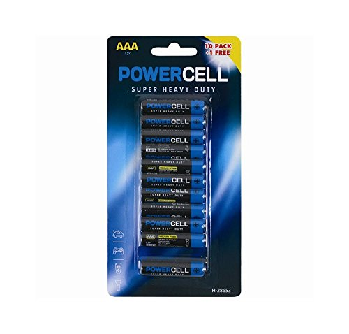 Price comparison product image 11 AAA Powercell Batteries Heavy Duty Mercury Free LR03 Professional Pencil
