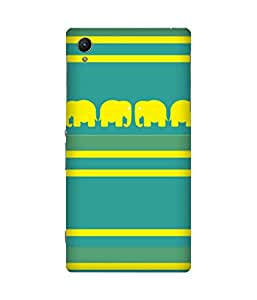 Stripes And Elephant Print (22) Sony Xperia Z1 Case