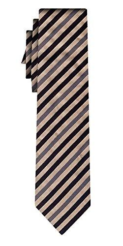 BOSS Seidenkrawatte fine stripe beige black