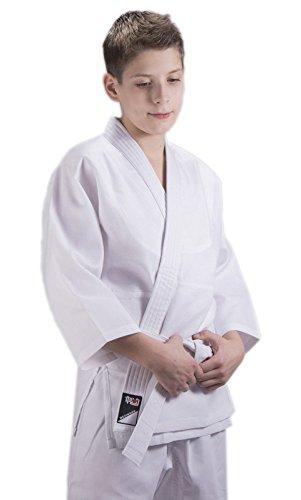 Ippon Gear Kinder Judoanzug Beginner, weiß, 110, JI250