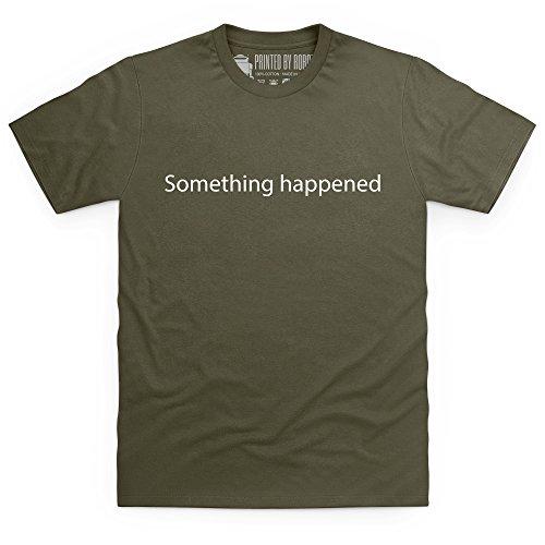 Something Happened T-Shirt, Herren Olivgrn