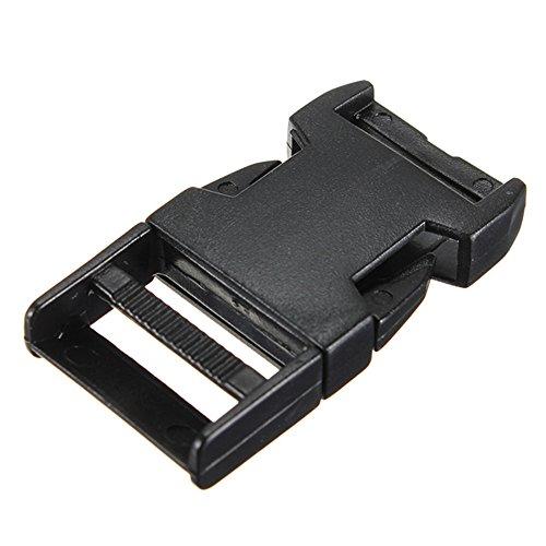 10pcs boucles plastiques clips paracord pour sangle fermoir bracelet paracorde noir 20mm