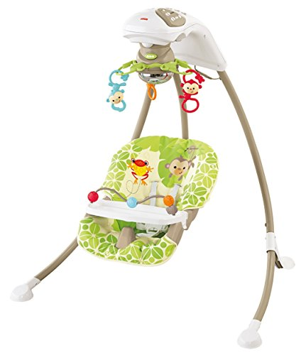 Mattel BCG33 - Fisher-Price Babyschaukel im Regenwald-Design